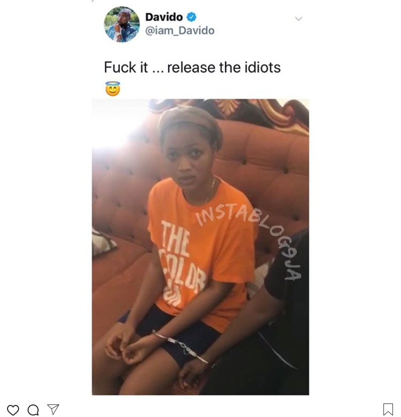 Davido forgives the girls that accused him of pregnancy