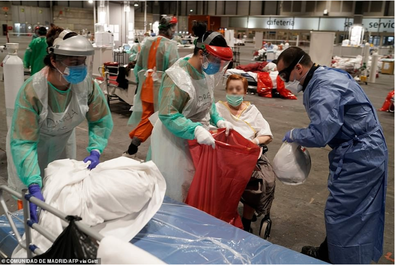 Spain has recorded its highest number of deaths and new Coronavirus infections