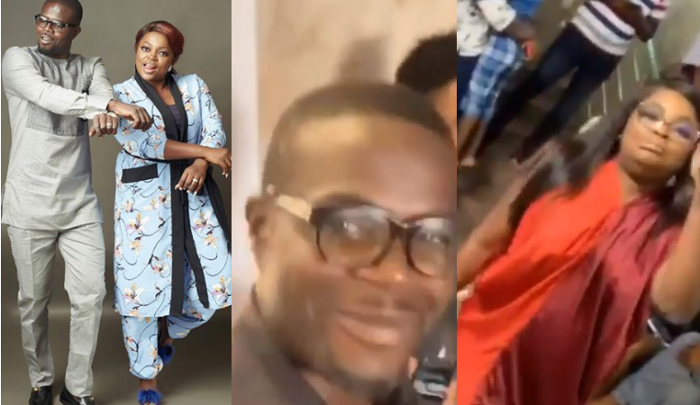 Nigerians criticize Funke Akindele and JJC Skillz for holding a birthday party despite the Coronavirus pandemic (video)