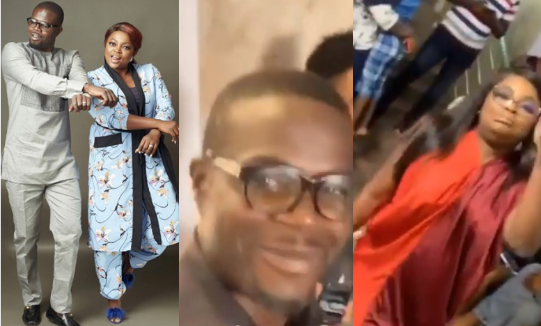 Nigerians criticize Funke Akindele and JJC Skillz for holding a birthday party despite the Coronavirus pandemic (video)